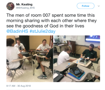 Twitter post Mr. Keating